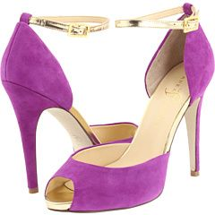 IVANKA TRUMP BULBLI---ooooh, purple shoes! They match my purple sweater