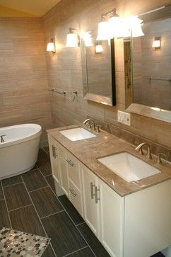 Cultured Marble Countertop With Kohler Undermount Sinks   Traditional    Bathroom   Chicago   Kitchen And