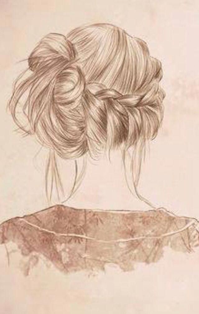 Love Romantic Hairstyle Weddinghairflowers Cool Braids Hair Sketch Hair Styles