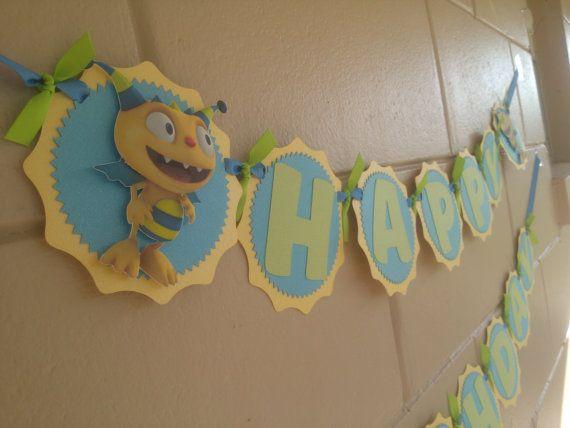 Henry Hugglemonster cumpleaños Banner por MemoriesBlossom en Etsy