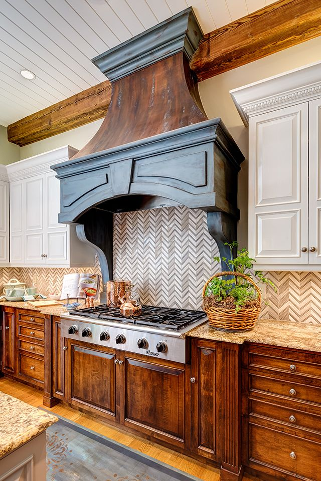 Beautiful Faux Copper Hood created by Atlanta, GA decorative artist Patricia Presto of On the Surface Designs | Metallic Paint Collection by Modern Masters | Photography by Mary Powell
