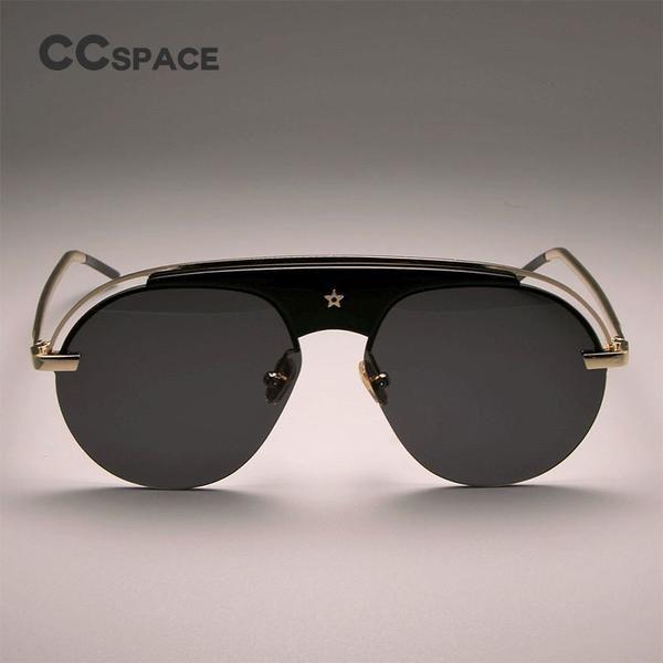 #SUNGLASSES #NEW CCSPACE Retro Steampunk Round Sunglasses Men Women Aviator Brand Designer Glasses Ladies Fashion Eyewear UV Protection…