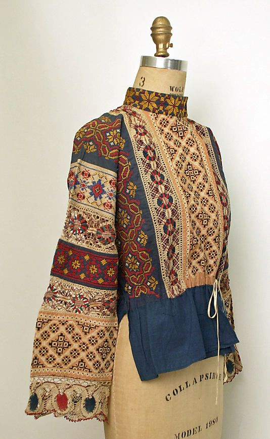 Ensemble Date: 1850–1925 Culture: Russian Medium: cotton, linen Some things about Russia interest me. Some of my ancestors are Russian.