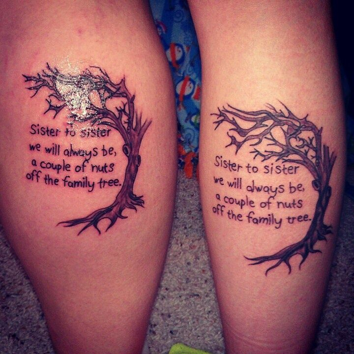 matching-sister-quote-tattoo-with-a-tree