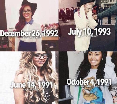 Little Mix birthdays