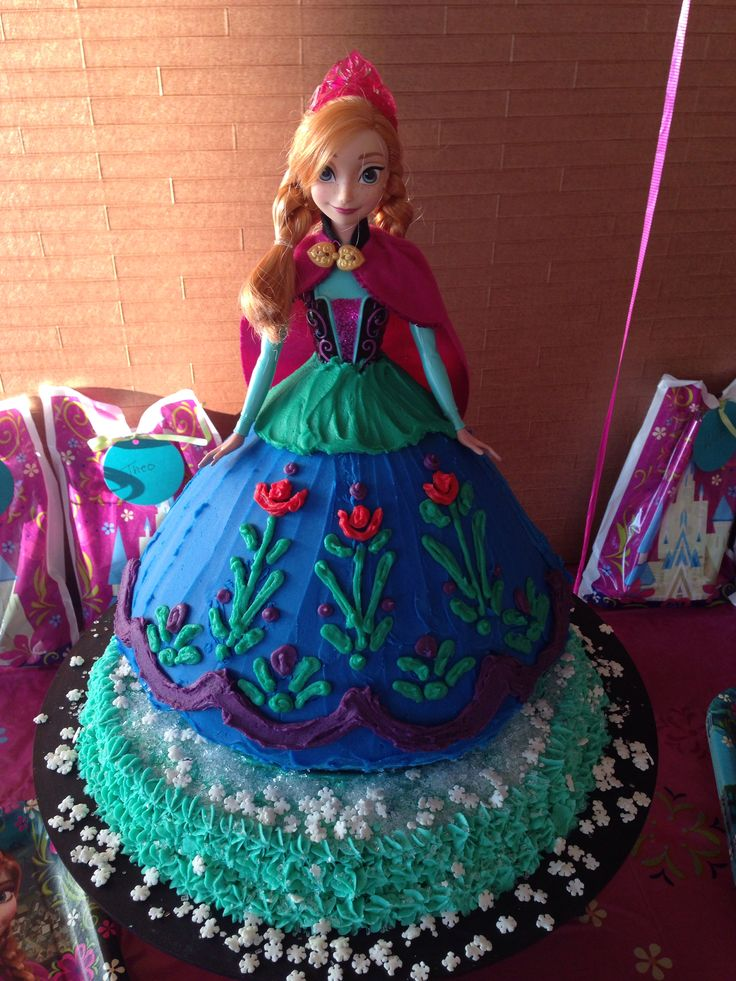 25 best anna cake ideas on pinterest anna frozen cake - Princesse frozen ...