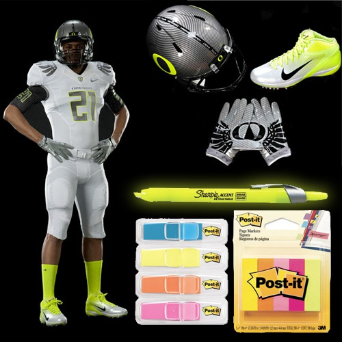 OREGON DUCKS' HIGHLIGHTER UNIFORMS