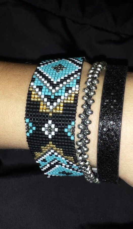 #miyuki #delicas #bracelet #beads #handmade #cuir