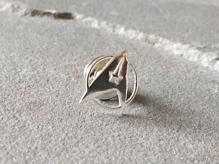 Sterling Silver Star Trek Lapel Pin, Star Trek Badge, Star Trek Tie Tack, Star Trek Insignia, Star Trek Jewelry, Geeky Pin, Sci Fi Jewelry by SilverSculptor on Etsy