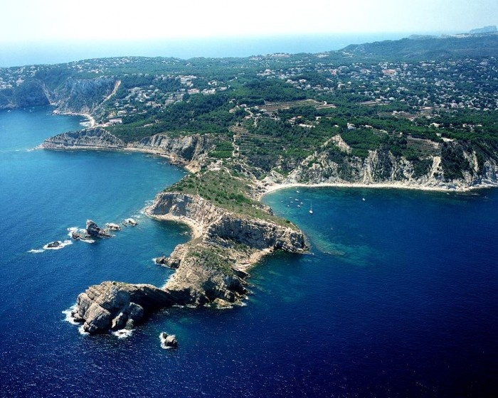 Javea from Air. Who wouldn't want to live there!