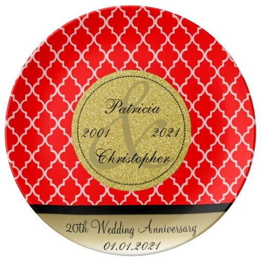 Strawberry Red Moroccan 20th Wedding Anniversary