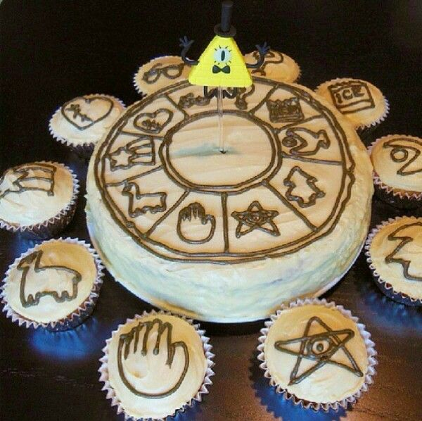 Gravity Falls Bill Birthday Cake