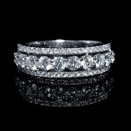1.50ct Diamond 18k White Gold Wedding Band Ring