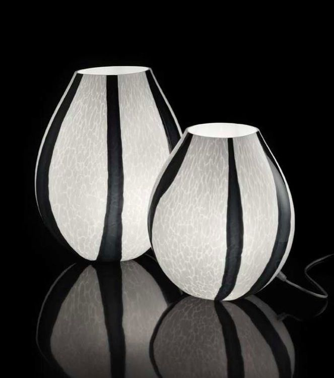 #Grit #blackandwhite #MuranoGlass #table #lamp