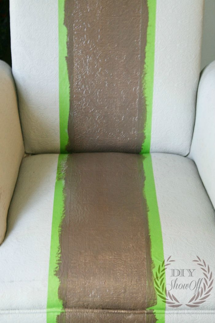 Painted Upholstered Chair Tutorial {before and after}-this inspires me to paint my slip covered Ikea chairs I don't like!