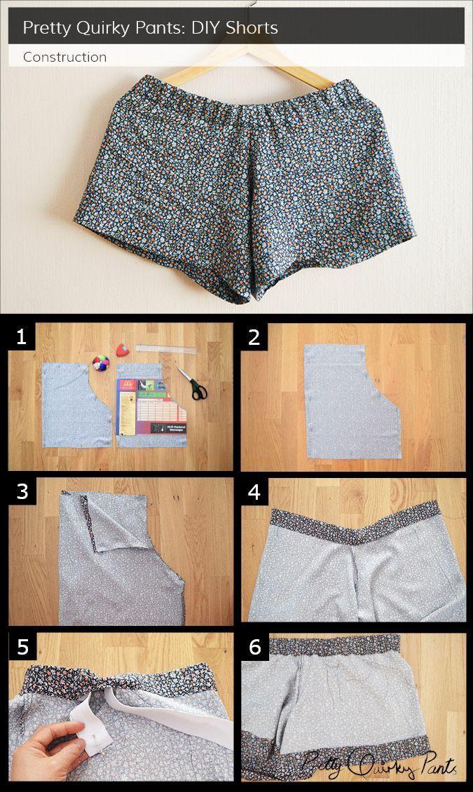 instrucciones de pantalones cortos de bricolaje, N…