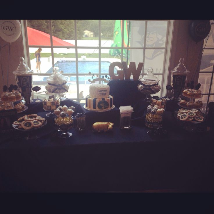 GWU Dessert Bar Washington UniversityGraduation