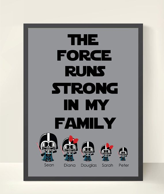Star Wars Personalized Family Wall Art  by StarWarsPrintShop, $20.00
