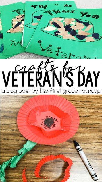 Find how to's for Veteran's Day crafts plus a FREEBIE!