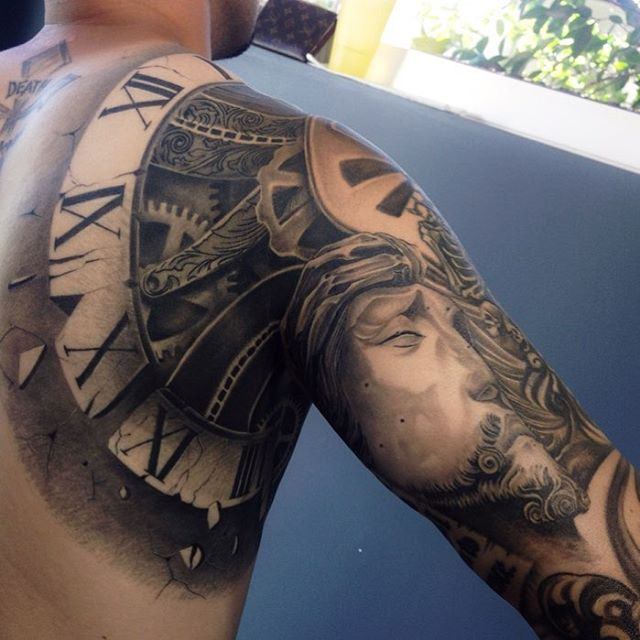 #tbt Of This Full Sleeve/shoulder/chest Piece! So Much