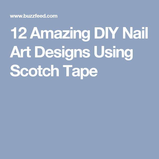 12 Amazing DIY Nail Art Designs Using Scotch Tape