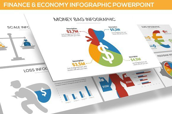 Finance & Economy Infographic PPT by SlideFactory on @creativemarket