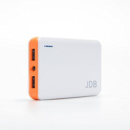 Power Bank, JDB 8000mAh Portable Fast Charging Power Bank, Dual USB Port 2.1a & 1a External Mobile Battery Charger Pack for iPhone, iPad, iPod, Samsung Galaxy, Cell Phones, Tablets – White and Orange Review 2017
