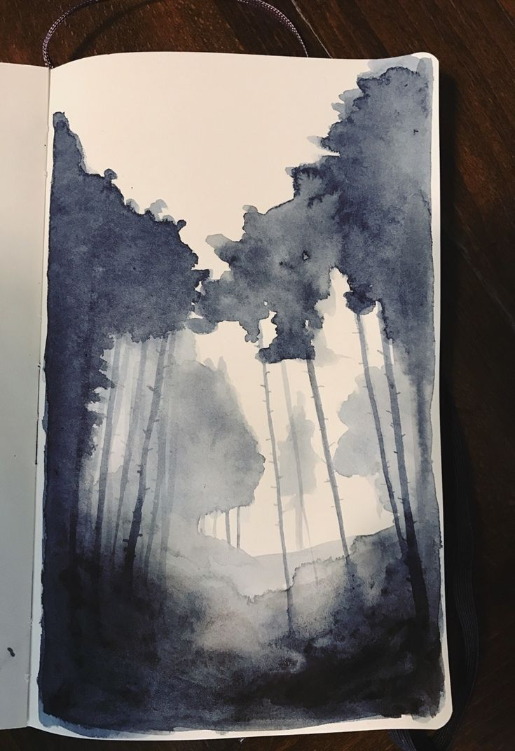 Lenas-9thart: Inktober day 5: a dark forest