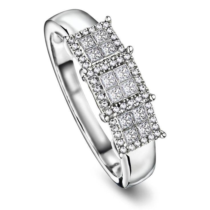 Ring i 375 gull med diamant 0,36ct WP