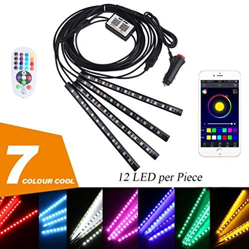 Features  Voltage: DC 12V 0.25A Wattage: 60W 8 solid LED lights Color: Red, Green, Blue, White, Orange, Yellow, Cyan, Purple 8 Modes: 4 color changing modes
