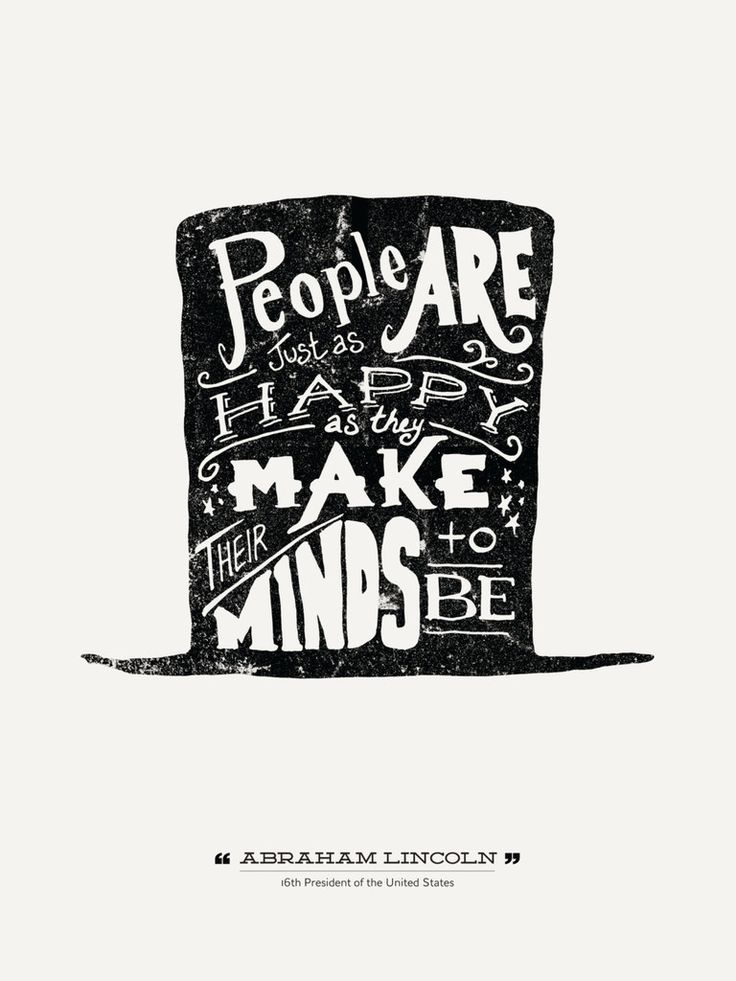 Poster Quote Abraham Lincoln hand lettered | Design Different