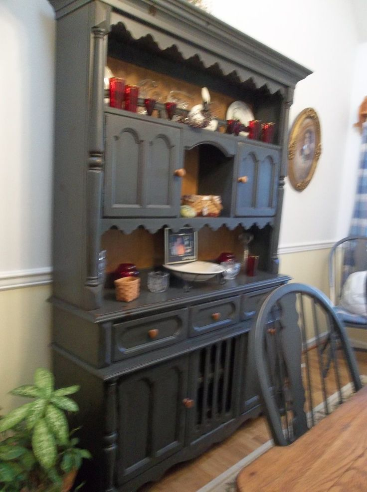 Broyhill dining room hutch cabinet furniture by attic for Broyhill dining room
