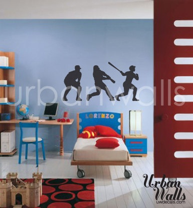 Vinyl Wall Sticker Decal Art Baseball By Urbanwalls 3900