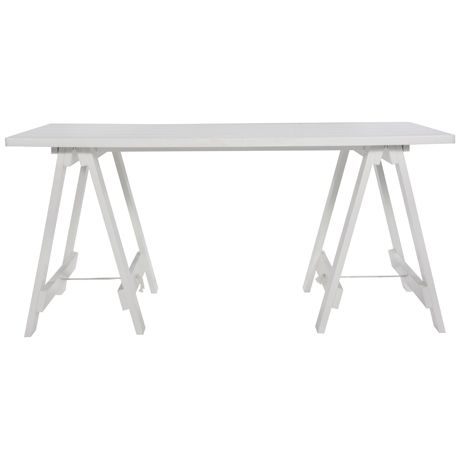 Stationers Trestle Desk White