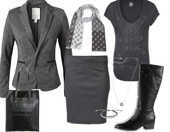 Grey - Business Outfits - stylefruits.nl
