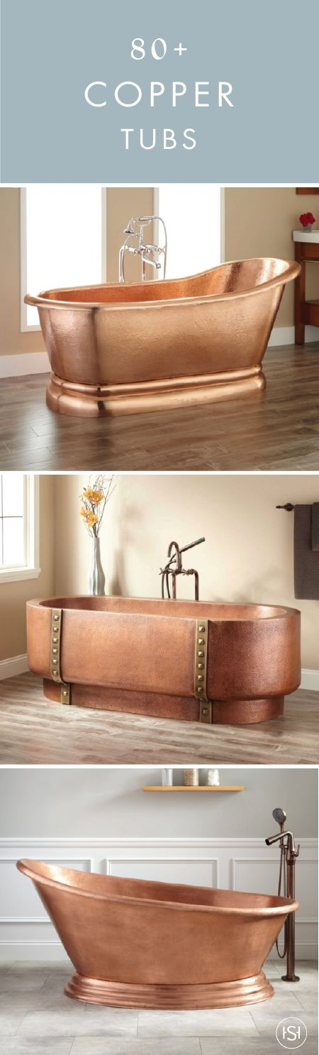 Create the bathroom makeover of your dreams by incorporating one of these 80+ Copper Bathtubs into the design. It's regal, antique in style, and down-right stunning—what's not to love?