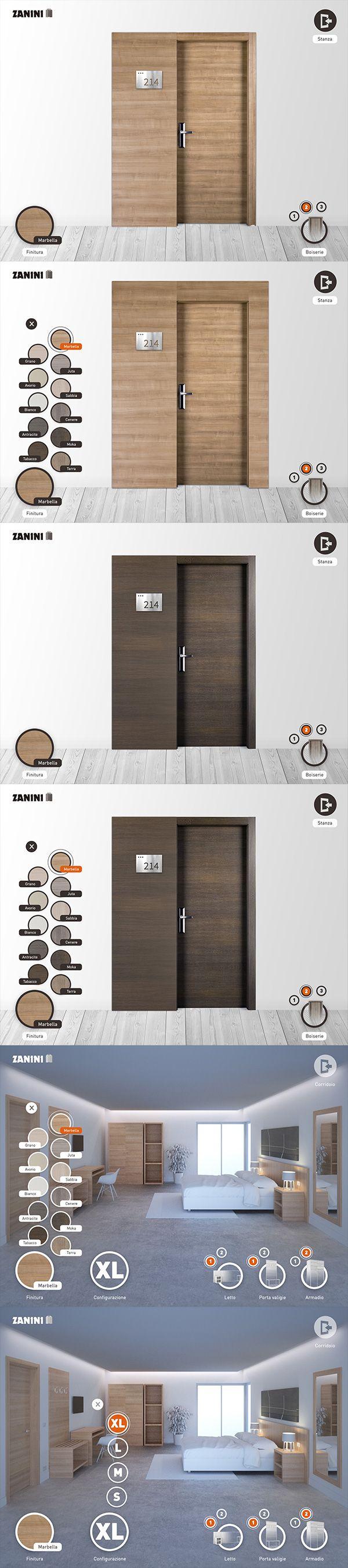 Zanini, hotel doors and rooms