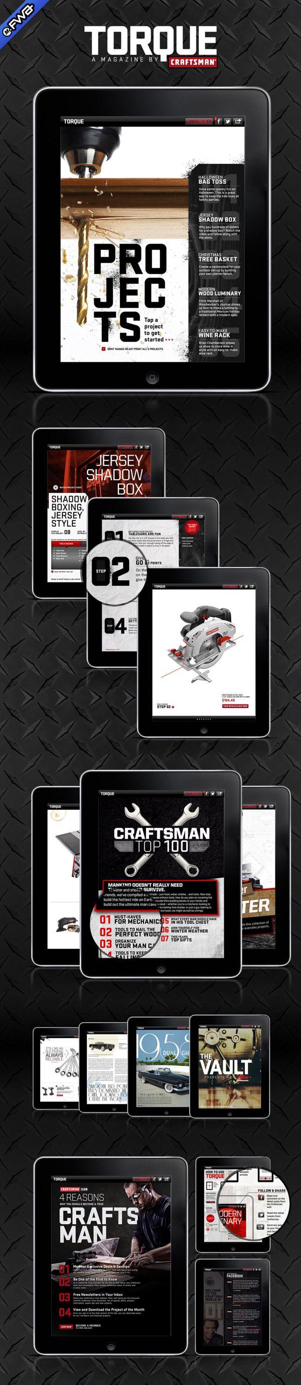 Craftsman Torque iPad Magazine by Michael Janiak, via Behance