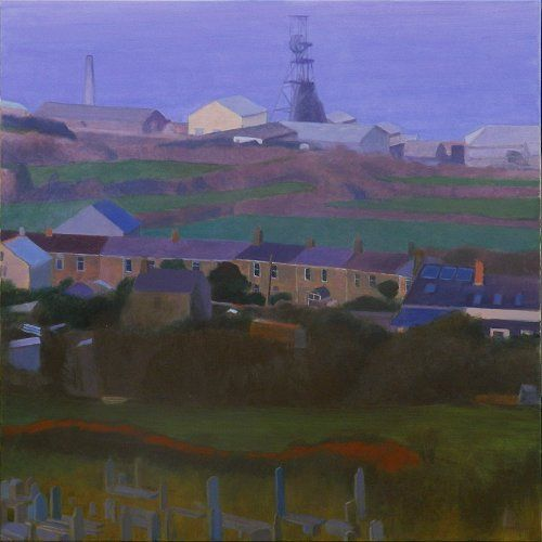 mining_village_above_the_sea_pendeen Acrylic on canvas 100 x 100 cms Tom Henderson Smith