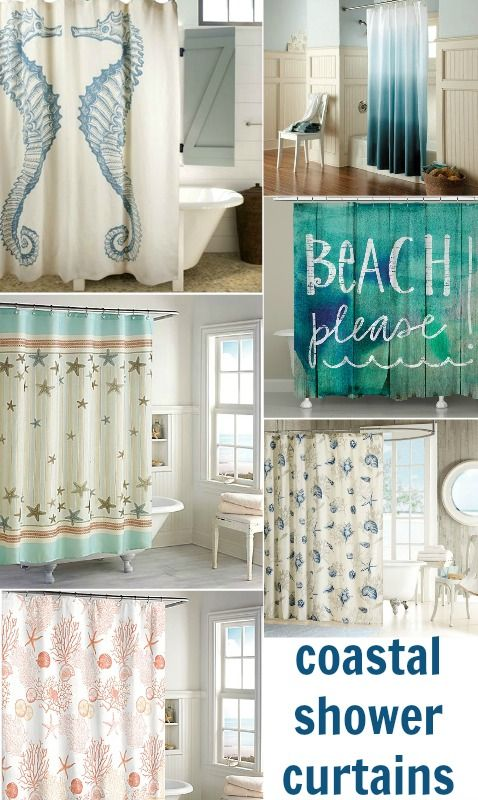 Fashionable Coastal Beach Shower Curtains to Bring Ocean Side Serenity to your Bathroom: http://www.completely-coastal.com/2016/01/coastal-beach-shower-curtains.html