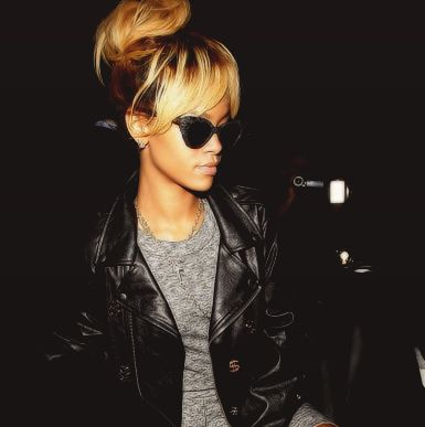 Strange 1000 Ideas About Rihanna Blonde Hair On Pinterest Rihanna Short Hairstyles Gunalazisus