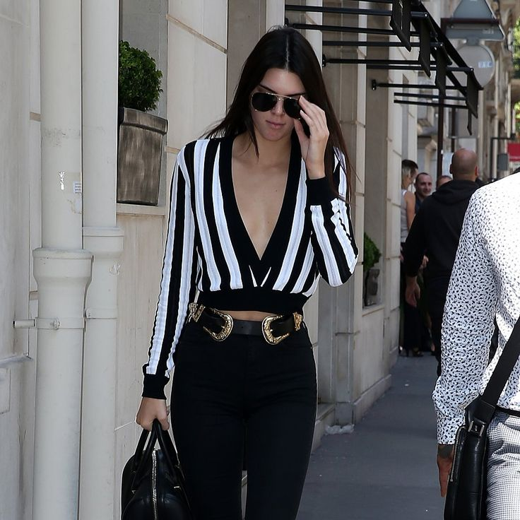 Kendall Jenner and Selena Gomez Wearing a Double-Buckle Belt | POPSUGAR Fashion