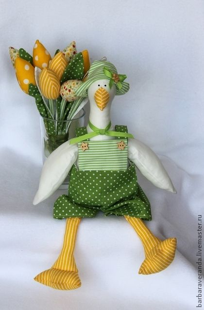 Tilda muñecas hechas a mano.  Masters Feria - Goose hecho a mano para Dasha.  Hecho a mano.