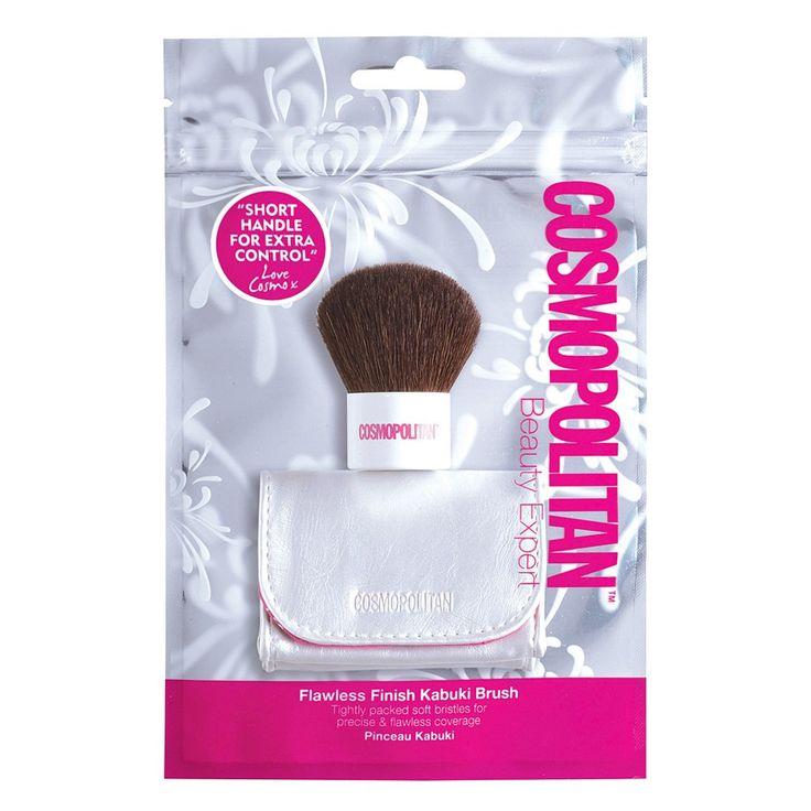 Το Cosmopolitan Beauty Expert Kabuki Brush είναι ιδανικό για την εφαρμογή πούδρας, τερακότας και ρουζ. Έχει πυκνή τρίχα, ώστε να έχετε τέλειο αποτέλεσμα με μία μόνο εφαρμογή. Διαθέτει μικρή λαβή για extra έλεγχο και τσαντάκι-νεσεσέρ.