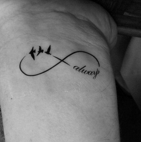 Handgelenk Tattoo temporäre Infinity Vögel entwerfen von Tempitat