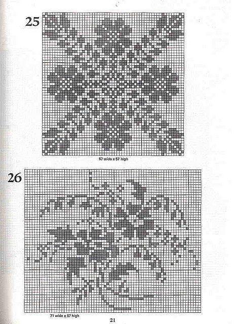 101 Filet Crochet Charts 21