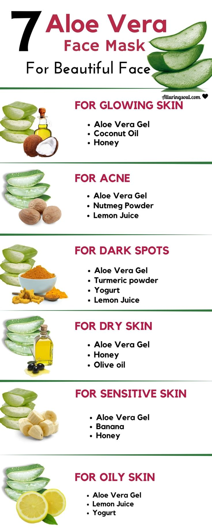Aloe Vera Face Mask helps every skin problems. It treats acne, dry skin, oily sk…