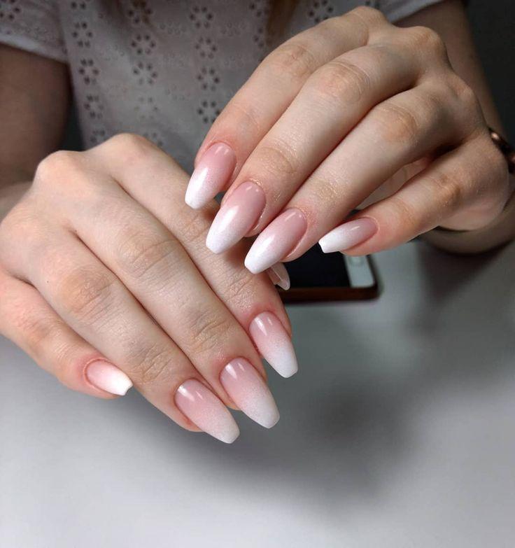 Ongles Ballerina à la mode – Cette forme d'ongle est totalement noble et stylée! #ge …   – Haare