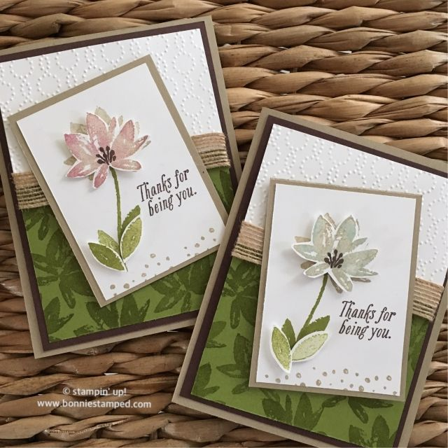 Avant Garden Sale-a-bration Stamp Set using Sponge Daubers • Bonnie Stamped