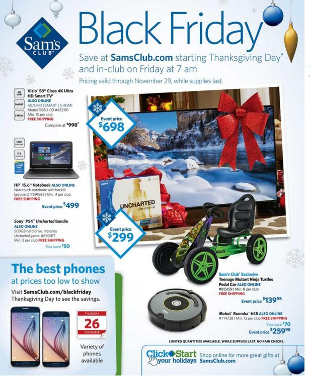 Sams Club Black Friday Ad 2015 is Live! - Raining Hot Coupons